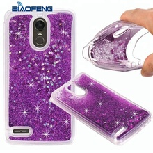 Liquid silicone rubber Glitter Sparkly Bling Luxury Clear phone Case Cover for LG stylo 4 g3