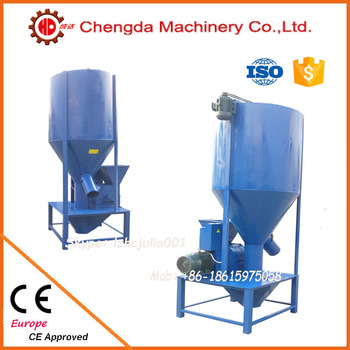 Low energy consumption vertical animal pig grinder and mixer with CE