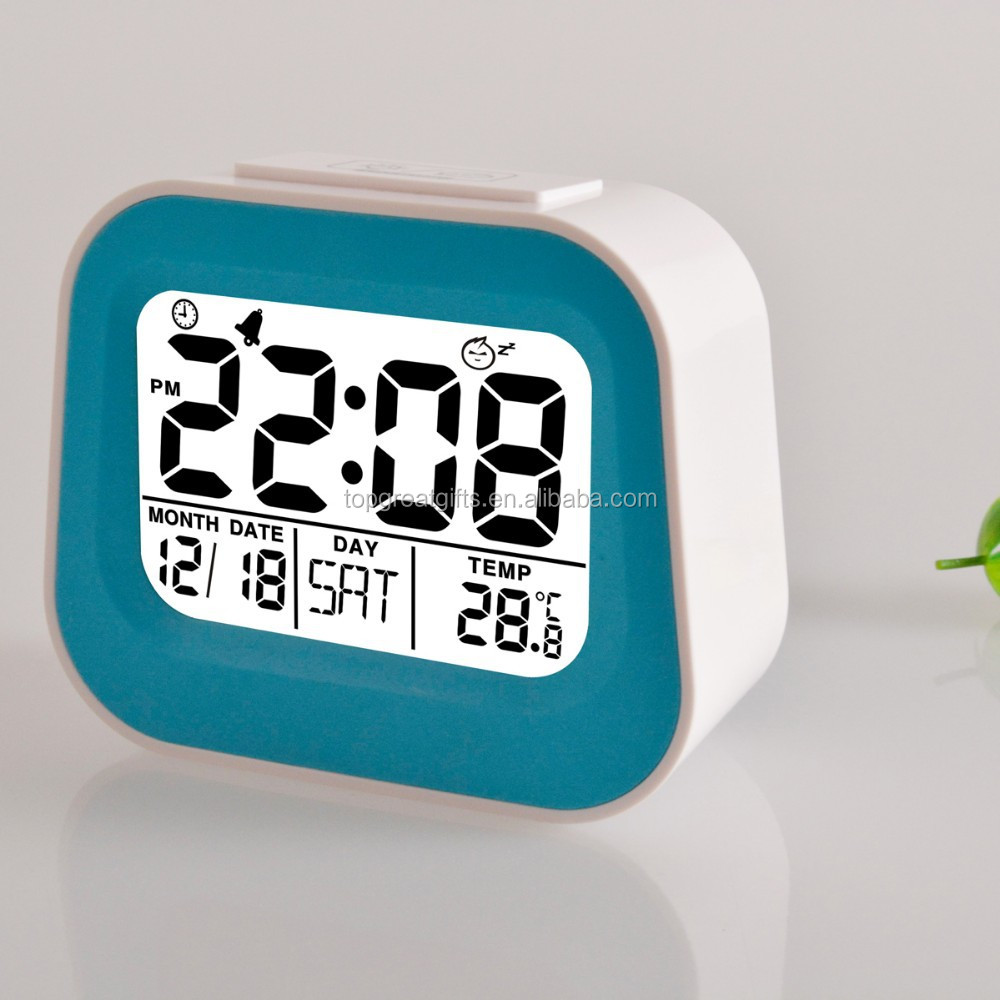 Promotional desktop led digital display desk calendar alarm clock