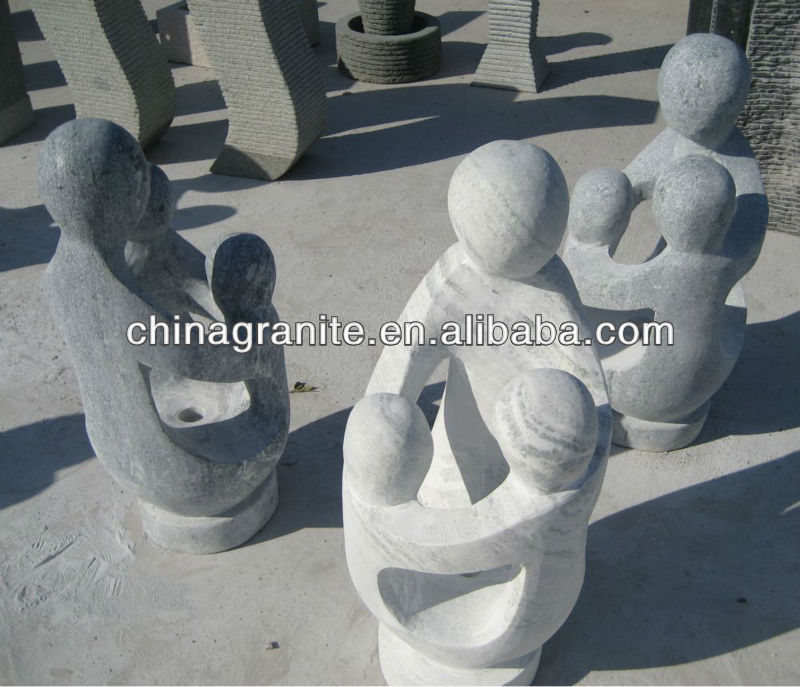 family stone sculpture