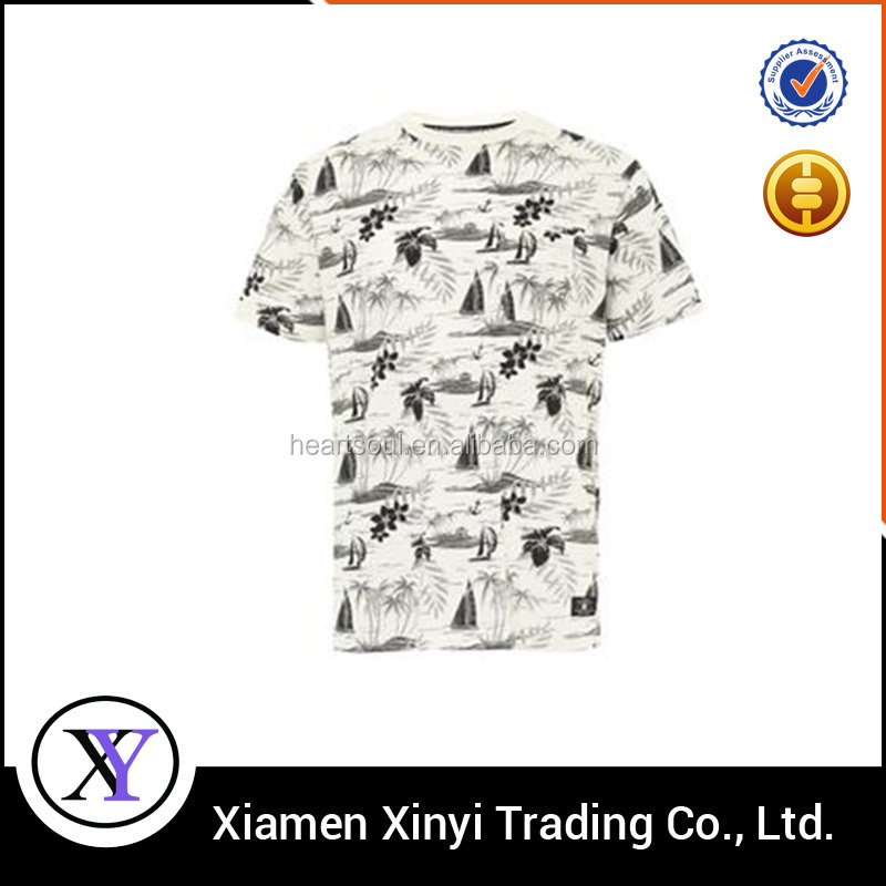 Factory Summer Stylish Casual mens printed t shirt brand names