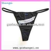 Fashion stripy g-string panty underwear
