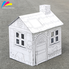 fashion factory printed custom kid large cardboard play paper house