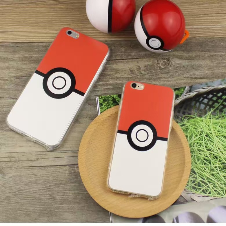 TPU Case Newest Pokemons Poke Ball Phone Case for iPhone 5 5s se 6 6s 6s Plus Soft TPU Bumper +Hard Plastic Cover Case