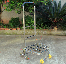 Stainless steel folding shopping cart/Popular folding grocery shopping cart/Stair climbing hand truck shopping trolley