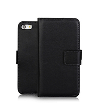 Custom Blank Flip Cover Card Slots Leather Phone Case For iPhone 5S SE