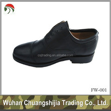 black officer uniform military shoe