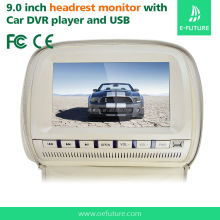 9'' LED Backlight HD Digital Screen 2 Video Inputs Car Headrest Monitor