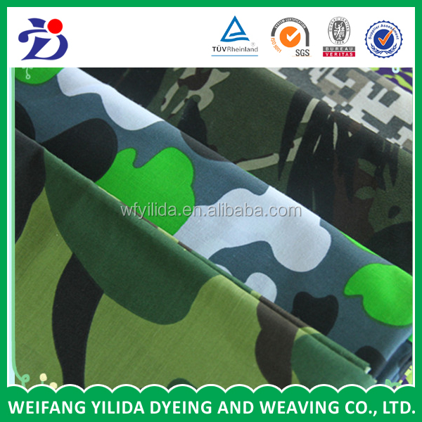High quality pure cotton 108*58 twill denim camouflage printed fabric