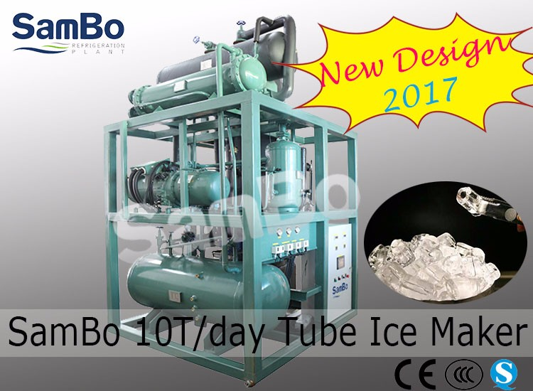 2017 New Design CE Ice Plant For Hotel Bars 10Tons/Day Tube Ice Machine With Touch Screen