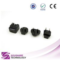EU/AU/UK/US plug 5v 3a USB AC DC wall mount power adaptor for travel charger