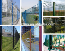 Easy to install rigid welded wire fence panels galvanized or plastic coating