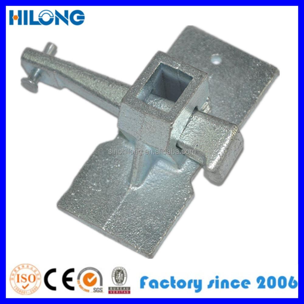 Ductile iron casting thread tightening clamp for concrete