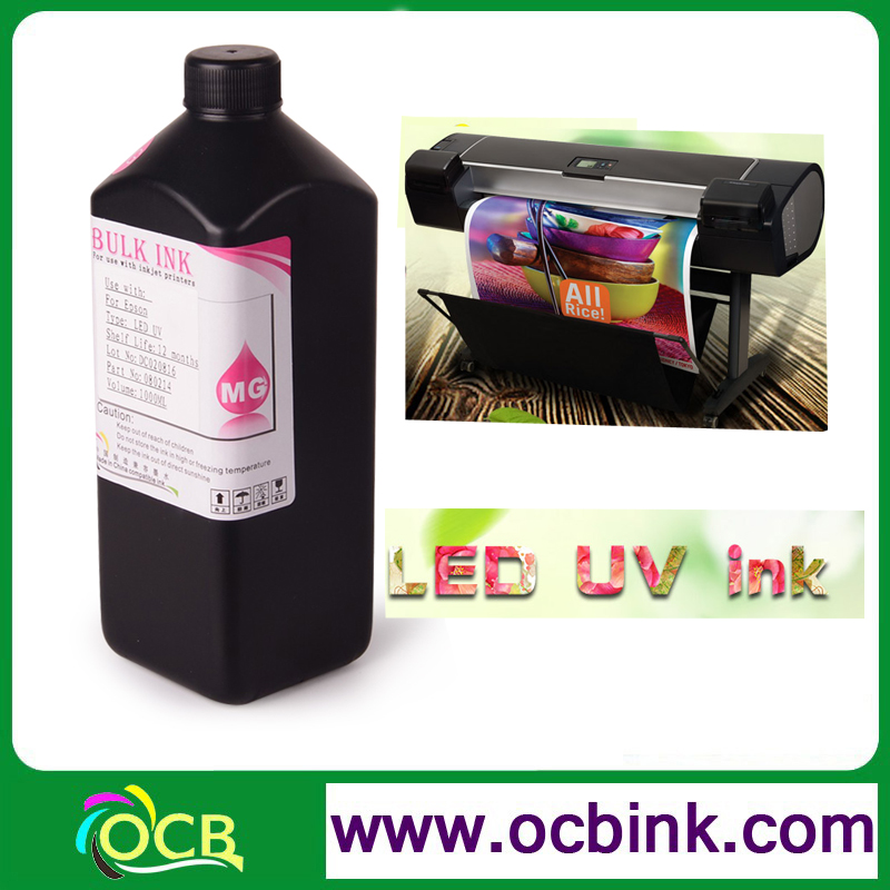Ocbestjet Compatible UV LED Offset Printing Curable Ink For Epson S30680 S50610 S50670 S50680 Inkjet Printer UV Lamp Ink