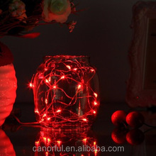 Red colorful christmas decor 100 led string light copper wire light string