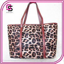 Classic Fashion Brown Leopard Pattern PU Tote Bag Handbag