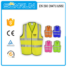 EN ISO 20471 Approval High visibility Reflective Safety Vest