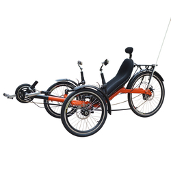 3 Wheel Adjustable Sport Disc Brake Rear Suspension Lithium Battery Electric Power Recumbent Tricycle