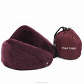 U shape memory foam neck pillow support for travel on car and plane