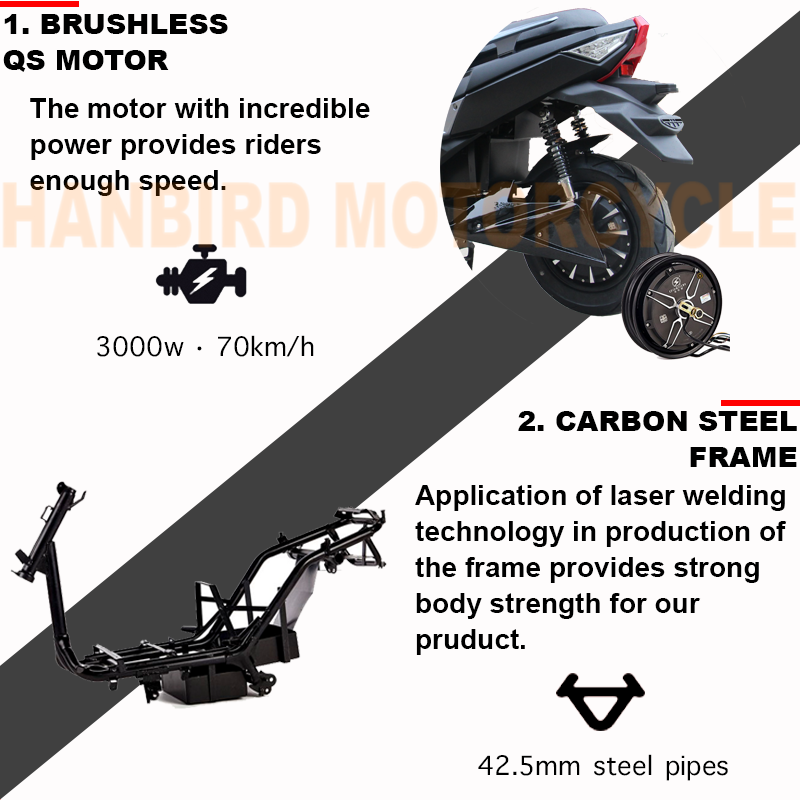 T9 Powerful Electric Scooter 72v Lithium Battery 5000w Motor