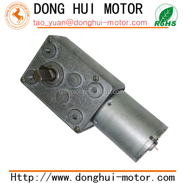 small size high torque low rpm 370 dc worm gear motor,6v 9v 12v 24v dc worm geared motor