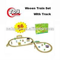 Wooden Train Set With Track