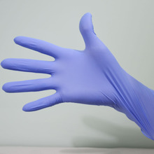 Colored medical disposable nitrile exam gloves
