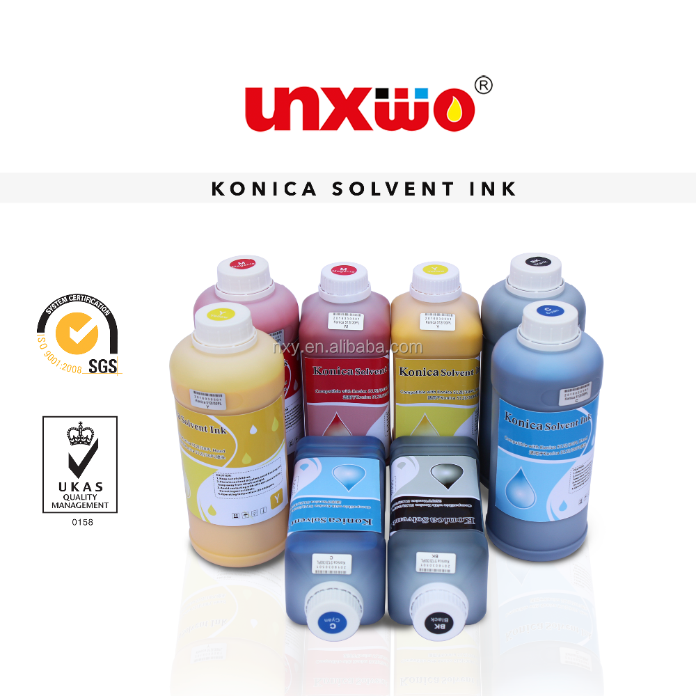 Superior Konica solvent ink for Myjet/JHF vista/Liyu/Allwin Flex Printing Machine with Konica head
