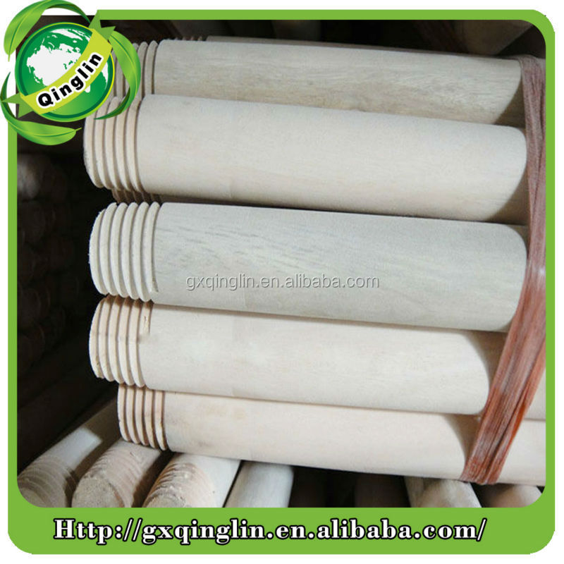 Natural grain surface natural wood logs for brooms or mops