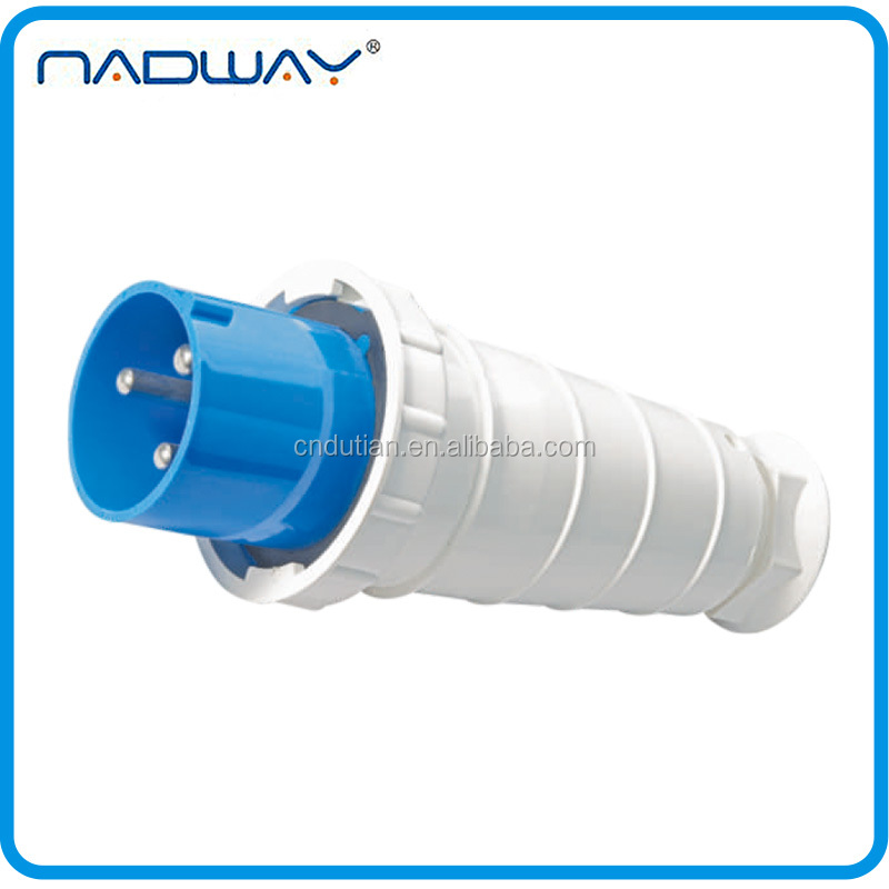 Safety CEE/IEC IP67 waterproof 63-125A industrial anti dust plug
