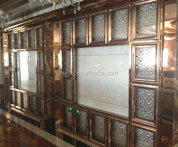 Metal laser cut stainless steel partition screen for wall
