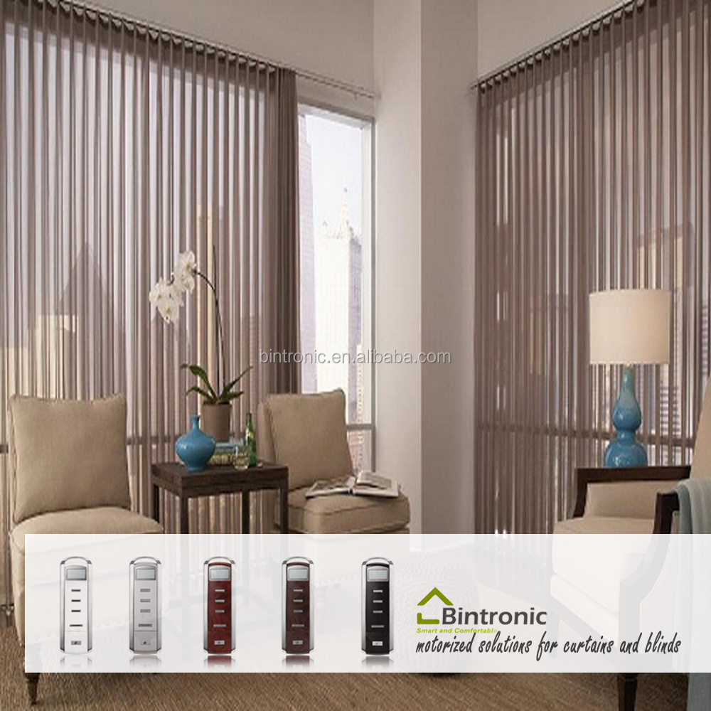Bintronic Automatic Curtain Motor Curtain Accessories Motorized Sheer Vertical Blinds Sheer Drapery Track