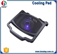 china wholesale price one big fan laptops cooler cooling pad with metal mesh