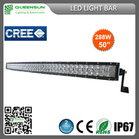 China manufacturer 50inch 288W off road LED light bar affordable price for latest curved led light bar DRCLB288-C