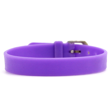 Purple Personalised Eco-friendly Cheap Custom Silicone Bracelet SCB020-B