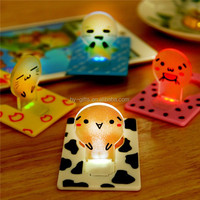 colored pocket pet card glowing wholesale mini led card light