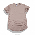 Unique u bottom hem accent short sleeve t shirts Hip Hop