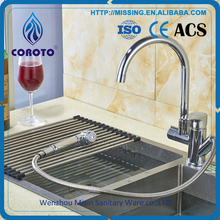 Top Quality Brushed Nickel Kitchen Sink Water Taps Brass Sink Kitchen Faucet Spray Head Shower