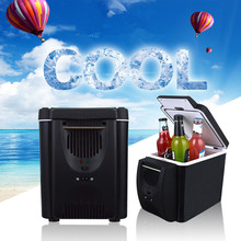 Factory Customized DC 12V 6 Liters Cooling And Heating Mini Car Cooler Box For Trip