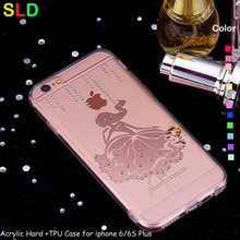 2016 updated 1.0 mm acrylic with dust proof plug back cell phone case cover for iphone 6 6plus
