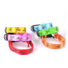 Double-sided pet collar with pug pattern,christmas led dog collars