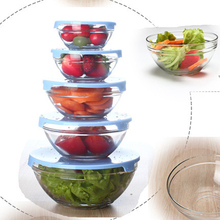 wholesale promotions 5 pcs glass fruit bowl set