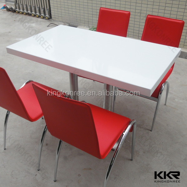 KFC dining table top , solid surface restaurant tables