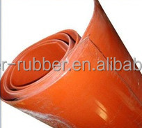 High temperature solid orange silicone rubber sheeting