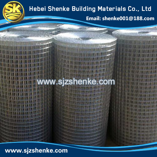 low carbon wire 1x1 galvanized welded wire mesh