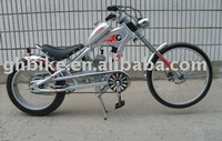 24inch new cheap popular gas motor chopper bike passed CE gasoline bike two stroke engine 48cc motor bicycle