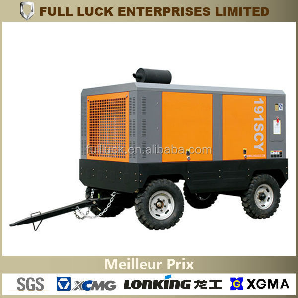 LARGE PORTABLE DIESEL ENGINE DRIVEN ROTARY AIR COMPRESSOR