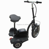 350w/500w 2012 new design 3 wheel scooter (with rear brake) with removable seat