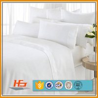Hotel White Double Brushed Microfiber Peach Skin Bed Sheets