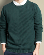 guangzhou men round neck half print button down plain color marino wool pullover sweater